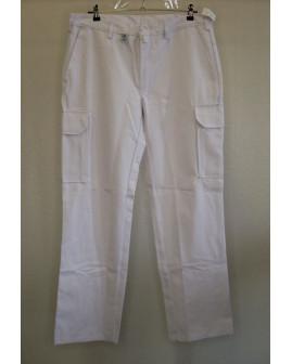 Pracovné nohavice biele, s teflónovou úpravou, veľ.50
