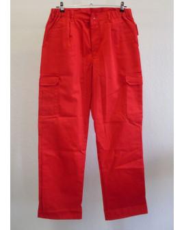 Pracovné nohavice Formtex červené, veľ.50