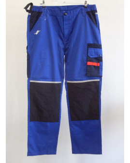 Montérkové nohavice Toptex modré, s reflexnými prvkami, veľ.56