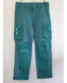 Pracovné nohavice Active zelené, s reflexnými prvkami, veľ.48