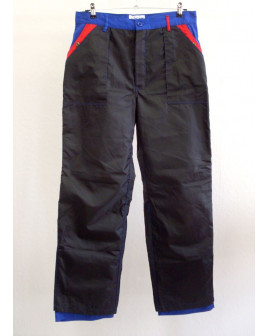 Montérkové nohavice 2-vrstvové nepremokavé čierne, veľ.48