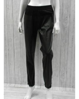 Nohavice s´Oliver čierne koženkové, veľ.M