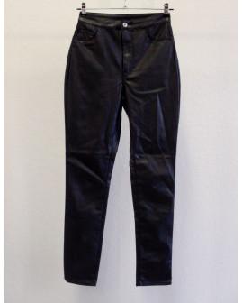 Nohavice H&M čierne koženkové, veľ.38