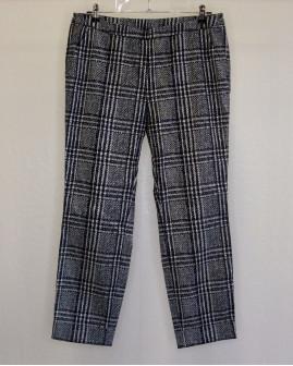 Nohavice sivo-strieborné kárované, veľ.42