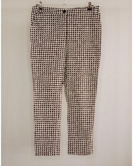 Nohavice čierno-biele vzorované, veľ.42