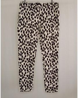 Nohavice H&M čierno-biele vzorované, veľ.42