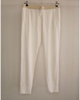 7/8 nohavice Bonprix biele, v páse guma, veľ.L/XL