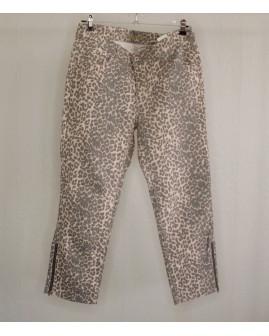 7/8 nohavice Cosima hnedé vzorované, veľ.40