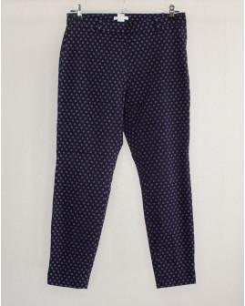 Nohavice H&M tmavomodré so vzorom, veľ.38