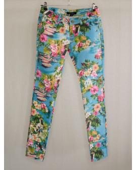 Nohavice Amisu zelené kvetované, veľ.36