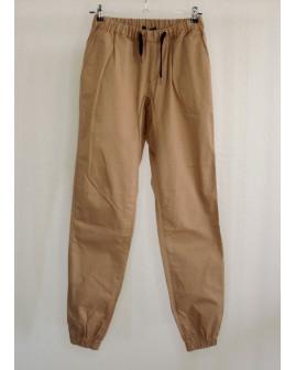Nohavice hnedé, v páse guma, veľ.L