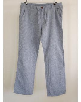 Nohavice Livergy modrosivé melírované, veľ.50