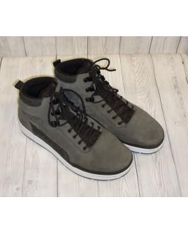 Športové členkové topánky zateplené. sivé, veľ.43