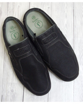 Topánky čierne, so zníženou pätou, veľ.44