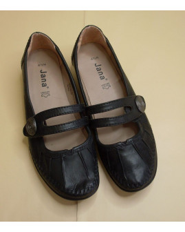 Topánky Jana čierne, veľ.4,5