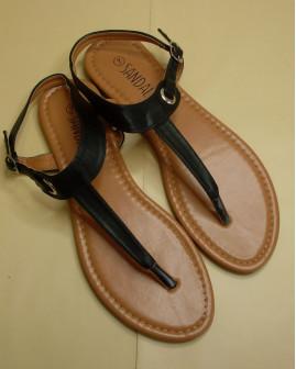 Sandále čierne, veľ.39