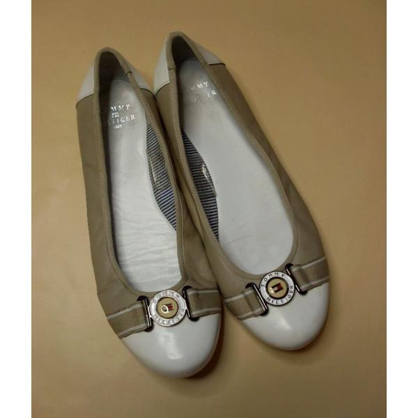 Balerínky Tommy Hilfiger bielo-béžové, veľ.37