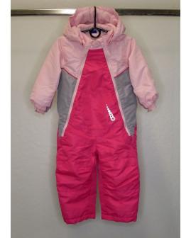 Overal Lupilu ružovo-sivý s kapucňou, veľ.86/92