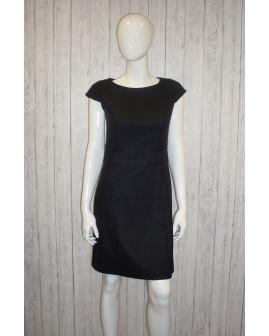 Šaty s´Oliver pletené čierne kárované, veľ.36