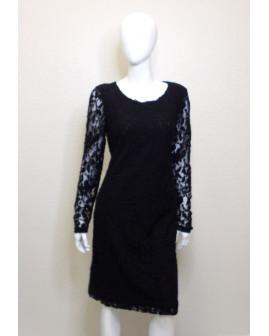 Šaty More&More čierne čipkované, veľ.42