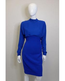 Šaty spoločenské modré, veľ.34