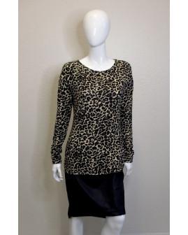 Šaty Laura Torelli s leopardím vzorom, spodok koženka, veľ.S