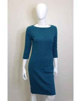 Šaty C&A zelené so vzorom, veľ.S