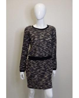 Šaty Blue Motion čierno-biele melírované, veľ.36/38