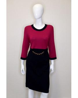 Šaty fialovo-čierne, veľ.44