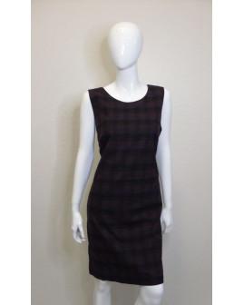 Šaty Opus hnedo-čierne kárované, veľ.42