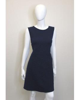 Šaty Janina tmavomodré s vytláčaným vzorom, veľ.48