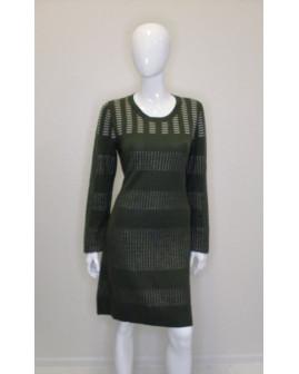 Šaty zelené so vzorom, veľ.L