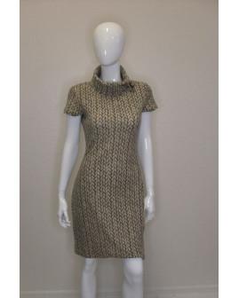 Šaty úpletové hnedé, veľ.36