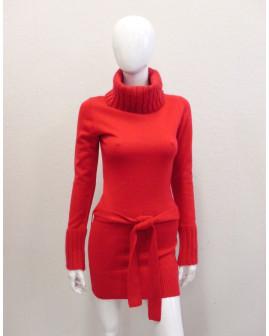 Šaty Fishbone pletené červené, veľ.M