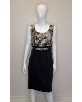 Šaty sivo-hnedé so vzorom, veľ.S
