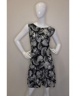 Letné šaty Bonprix čierne s bielym vzorom, veľ.44/46