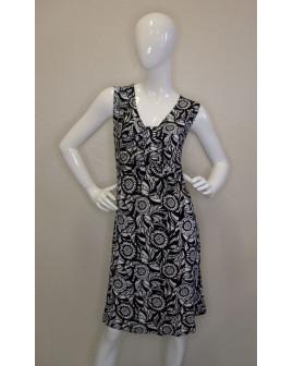 Letné šaty NKD čierne s bielym vzorom, veľ.46