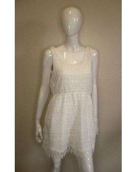 Letné šaty biele čipkované, veľ.S/M