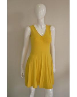 Letné šaty Yessica žlté, veľ.S