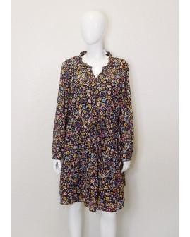 Šaty Gina Benotti čierne s farebnými kvetmi, veľ.44