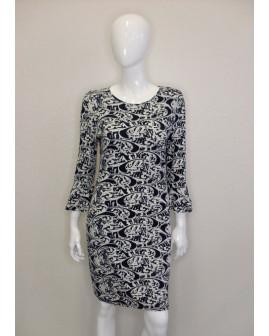 Šaty Melrose čierno-biele vzorované, veľ.42