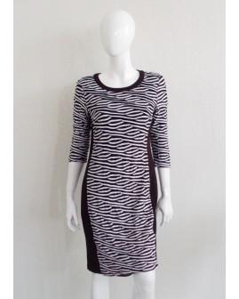 Šaty Gerry Weber čierno-biele prúžkované, veľ.40