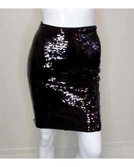Sukňa H&M čierna s flitrami, veľ.XS
