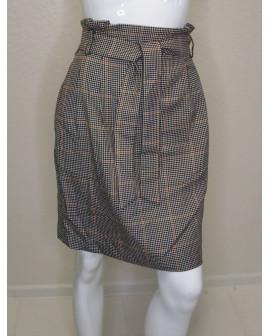 Sukňa H&M sivá károvaná, veľ.40