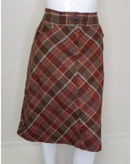 Sukňa H&M bordová károvaná, veľ.44