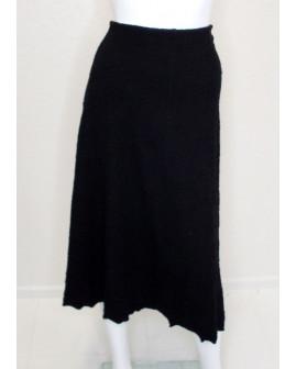 Sukňa čierna so vzorom, veľ.XL