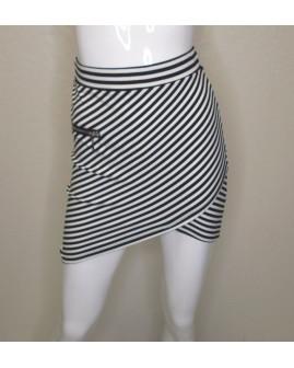 Sukňa Blind Date bielo-čierna prúžkovaná, veľ.XS