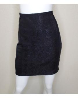 Sukňa Orsay čierna, vpredu vyrážaný vzor, veľ.36