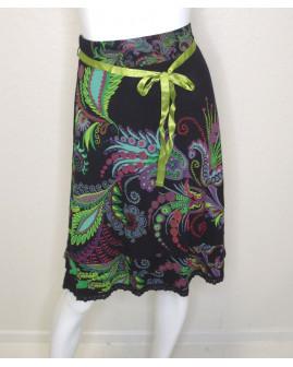 Sukňa Desigual čierna s farebným vzorom, veľ.M