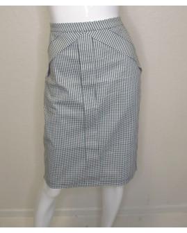 Sukňa čierno-biela s drobným vzorom, veľ.L